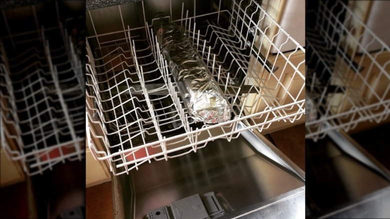 salmon in the dishwasher