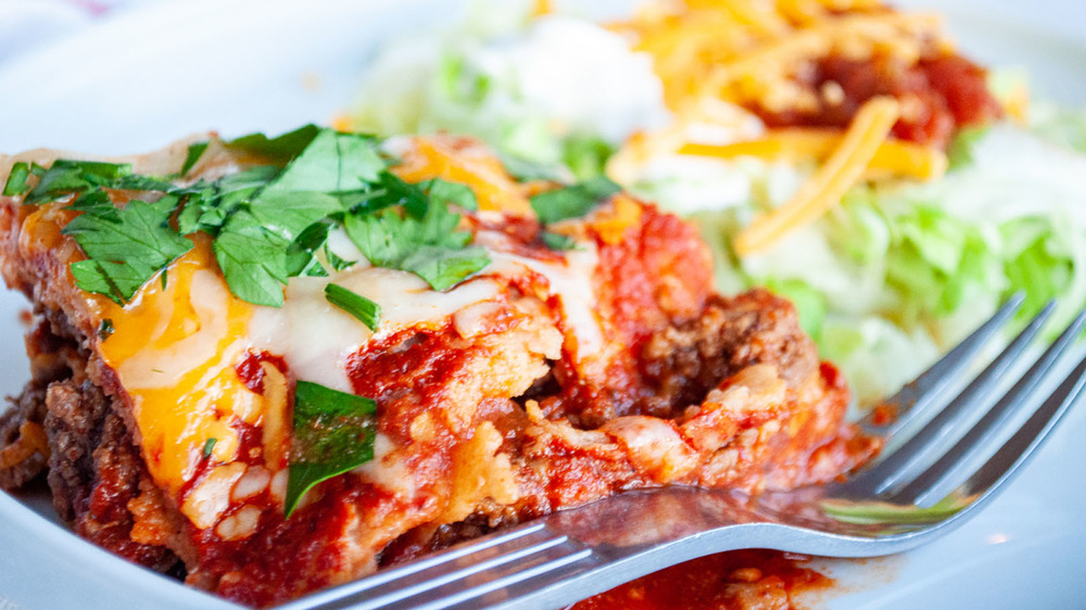 This enchilada casserole only takes 15 minutes to prep