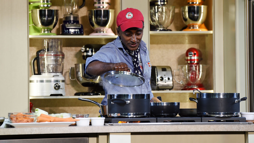 Chef Marcus Samuelsson hosts cooking demonstratio