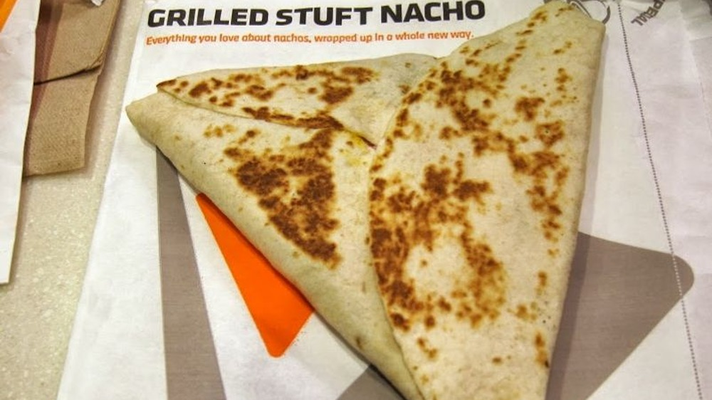 Grilled Stuft Nacho from taco bell