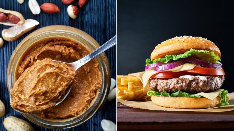 Peanut butter and burger