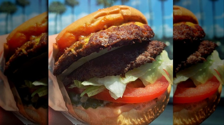 double meat in n out burger
