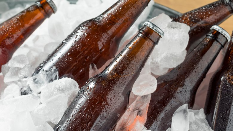 cooler of ice