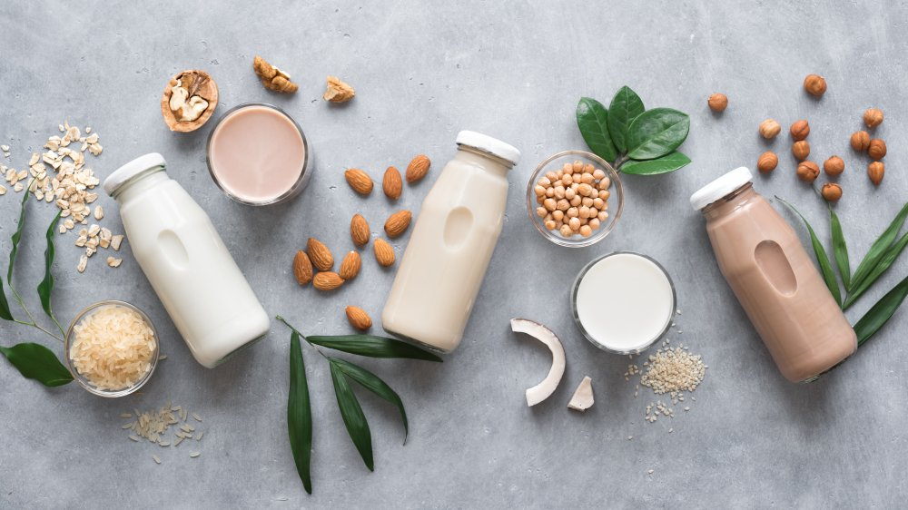 An assortment of plant-based milk substitutions Chopped chefs could use