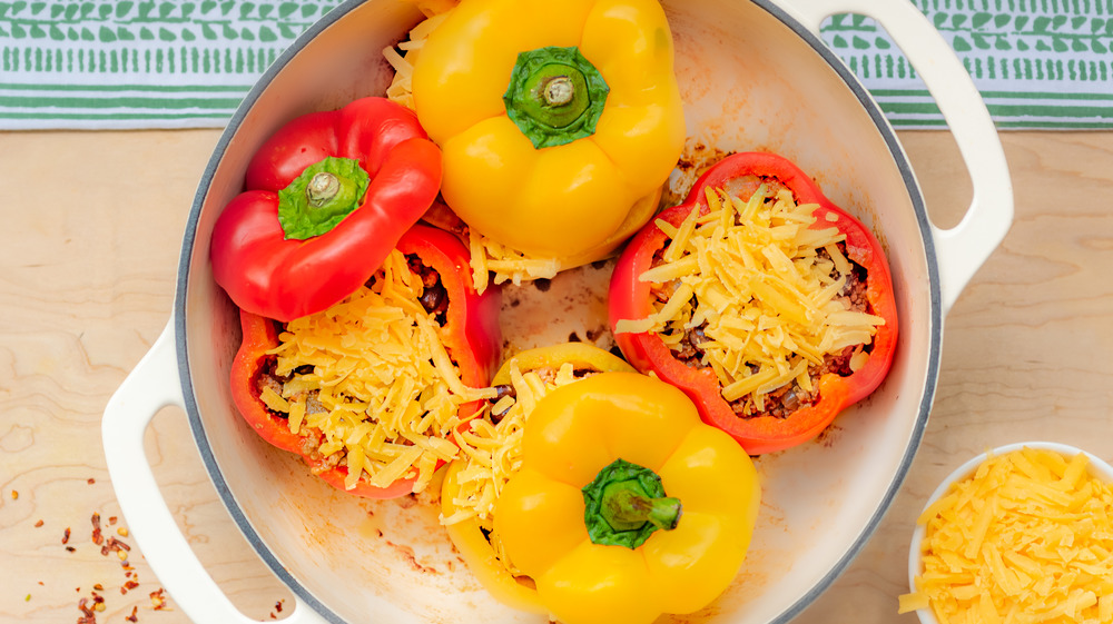 stuffing peppers for one-pot stuffed bell peppers recipe
