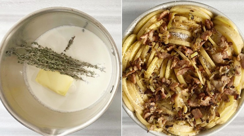 scalloped potatoes with additional ingredients