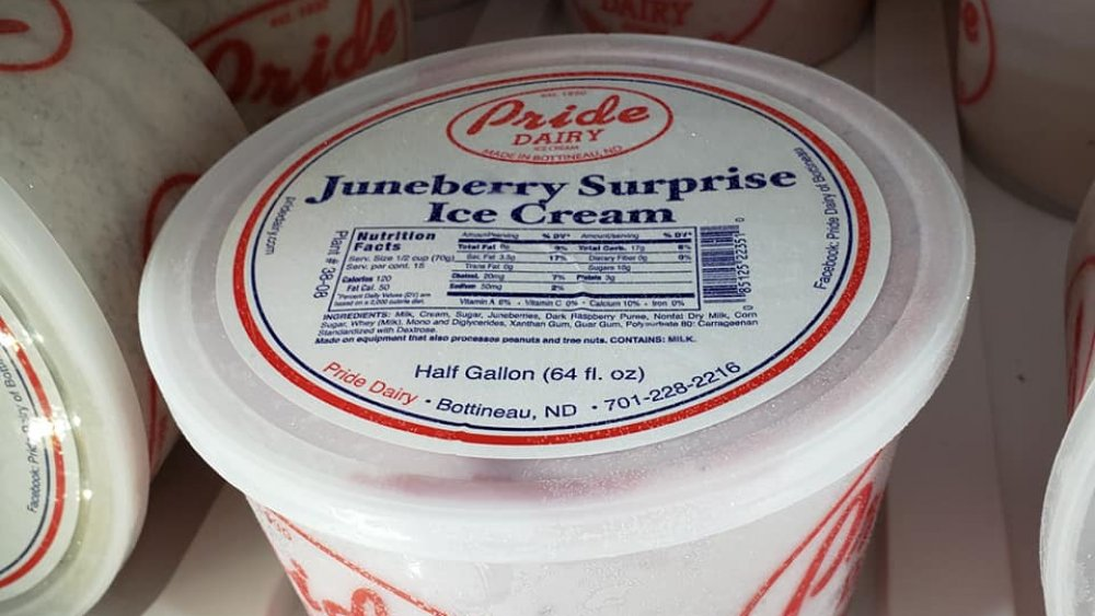 Pride Dairy's Juneberry ice cream