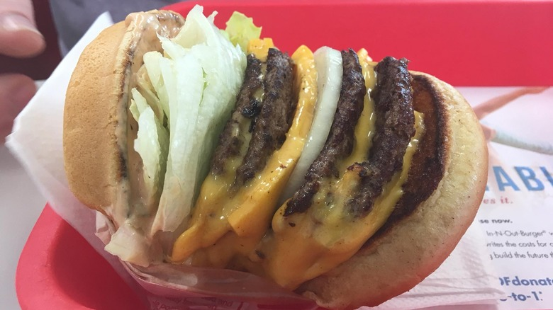 In-N-Out 4x4 burger