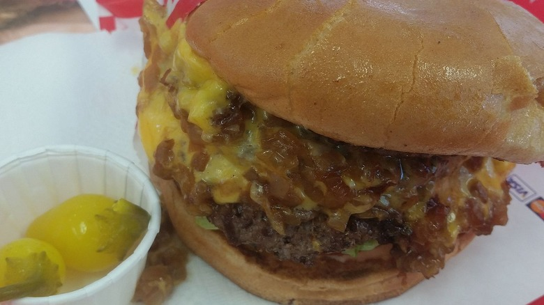 In-N-Out burger with grilled onions