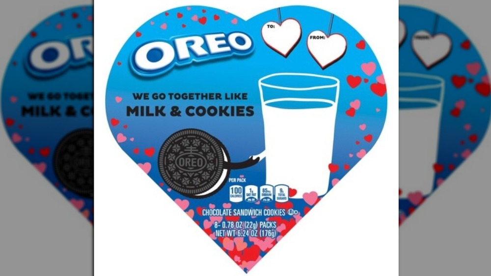 Heart-shaped box of Oreos for Valentine's day